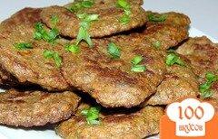 Фото рецепта: «Котлеты из говяжьей печени с зеленью»