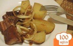 Фото рецепта: «Свинина, запеченная с картофелем»
