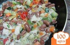 Фото рецепта: «Фасоль с овощами и курицей»