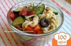 Фото рецепта: «Овощной салат с пастой»