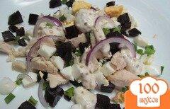 Фото рецепта: «Салат из курицы со свеклой»