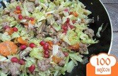 Фото рецепта: «Савойская капуста с фаршем и грибами»