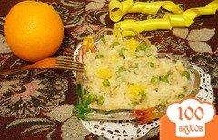 Фото рецепта: «Ризотто с апельсином и зеленым горошком»