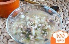 Фото рецепта: «Уха из голов горбуши с кус-кусом»