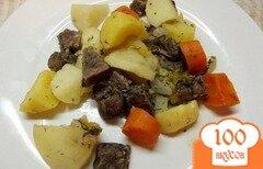 Фото рецепта: «Зпеченные овощи с мясом в виноградном соке»