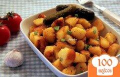 Фото рецепта: «Картофель, запеченный без духовки»