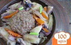 Фото рецепта: «Гамбургер на овощах в фольге»
