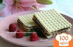 Фото рецепта: «Вафли с шоколадной начинкой»