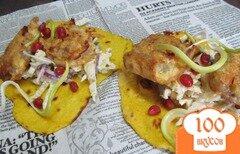 Фото рецепта: «Закуска из мясных рулетов на салате»