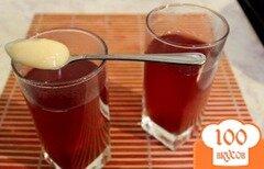 """Фото рецепта: «Морс из клюквы и черноплодной рябины """"Эликсир здоровья""""»"""