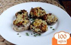 Фото рецепта: «Шампиньоны фаршированные булгуром с морковью»