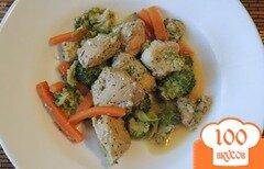Фото рецепта: «Куриная грудка с брокколи в сливках»