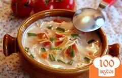 Фото рецепта: «Быстрый томатный суп с вермишелью»