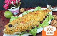 Фото рецепта: «Толстолобик запеченный под сырно - ореховой корочкой»