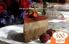 """Фото рецепта: «Торт-мусс """"Два шоколада и лесные ягоды""""»"""