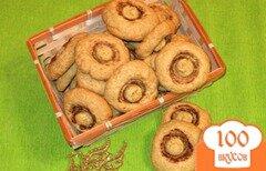 """Фото рецепта: «Печенье """"Запеченные шампиньоны""""»"""
