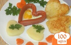Фото рецепта: «Сердечки на завтрак»