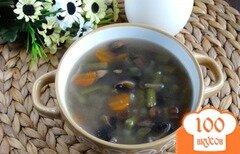 Фото рецепта: «Суп со стручковой фасолью и грибами»