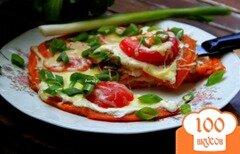 Фото рецепта: «Томатная лепешка-пицца»