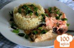 Фото рецепта: «Лосось в сливочно-соевом соусе»
