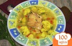 Фото рецепта: «Суп с курицей и клецками в мультиварке»
