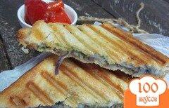 Фото рецепта: «Сэндвич гриль со шпинатом»