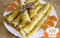 Фото рецепта: «Блины с мандариновым пюре»
