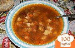 Фото рецепта: «Фасолевый суп с томатной пастой»