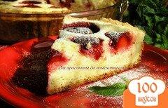 Фото рецепта: «Творожный пирог с клубникой»