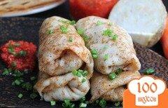 Фото рецепта: «Блины с фаршем из свинины, сельдерея и моркови»