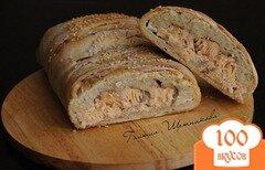 Фото рецепта: «Пирог с форелью и зеленым сыром»