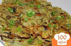 Фото рецепта: «Картофельные оладьи с шампиньонами»