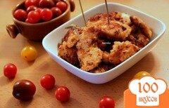 Фото рецепта: «Золотистые куриные кусочки»
