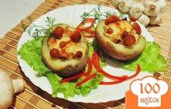 Фото рецепта: «Картофельные лодочки с грибами»