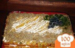 Фото рецепта: «Крекерный закусочный тортик»