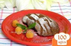 Фото рецепта: «Шоколадно-злаковые оладьи»