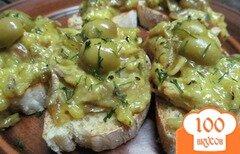 Фото рецепта: «Куриная паста на тостах»