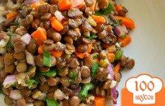 Фото рецепта: «Овощной салат с чечевицей»