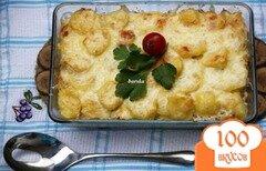 Фото рецепта: «Гратин из картофеля и отварного куриного мяса»