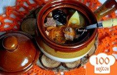 Фото рецепта: «Жаркое в горшочках из говядины и свинины с корейской морковкой»