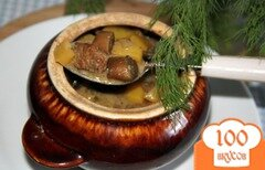 Фото рецепта: «Горшочки с картофелем, свининой и грибами»