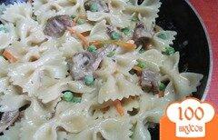 Фото рецепта: «Макароны и мясо со сливочной заправкой»