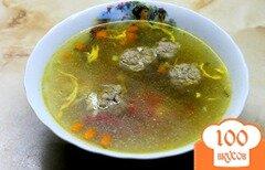 Фото рецепта: «Суп с свиными фрикадельками и яйцом»