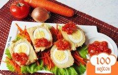 Фото рецепта: «Картофельные зразы с яйцом и карамелизированными овощами»