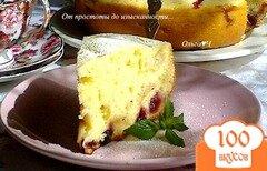 Фото рецепта: «Шарлотка с яблоками, крыжовником и черной смородиной (в мульти)»
