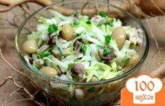 Фото рецепта: «Салат с пекинской капустой, бужениной и фасолью»
