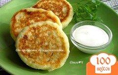 Фото рецепта: «Сырники с зеленью»