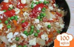 Фото рецепта: «Свиной фарш с капустой рисом и консервированным перцем»