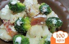 Фото рецепта: «Теплый салат из картофеля с брокколи»