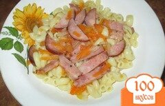 Фото рецепта: «Подливка с колбасой»